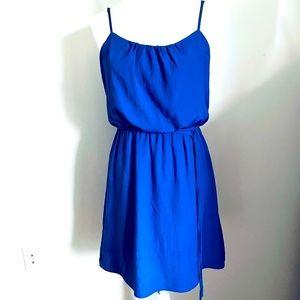 AQUA Royal Blue Sun Dress